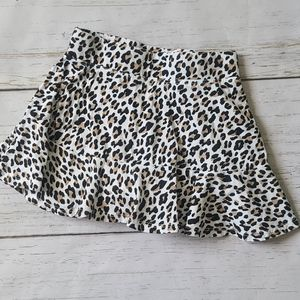 Children's Place Leopard Skort Size 5/6 Small